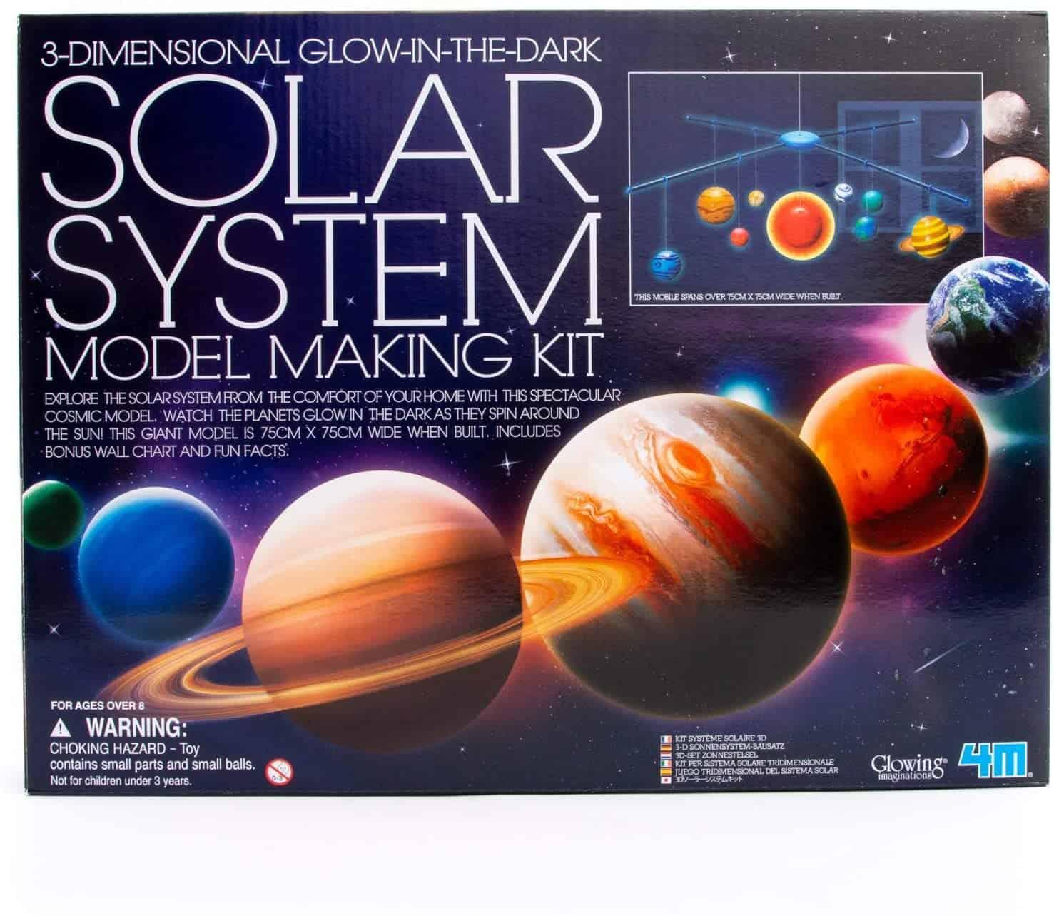 4M 3D Glow-in-the-Dark Solar System Mobile Making Kit -