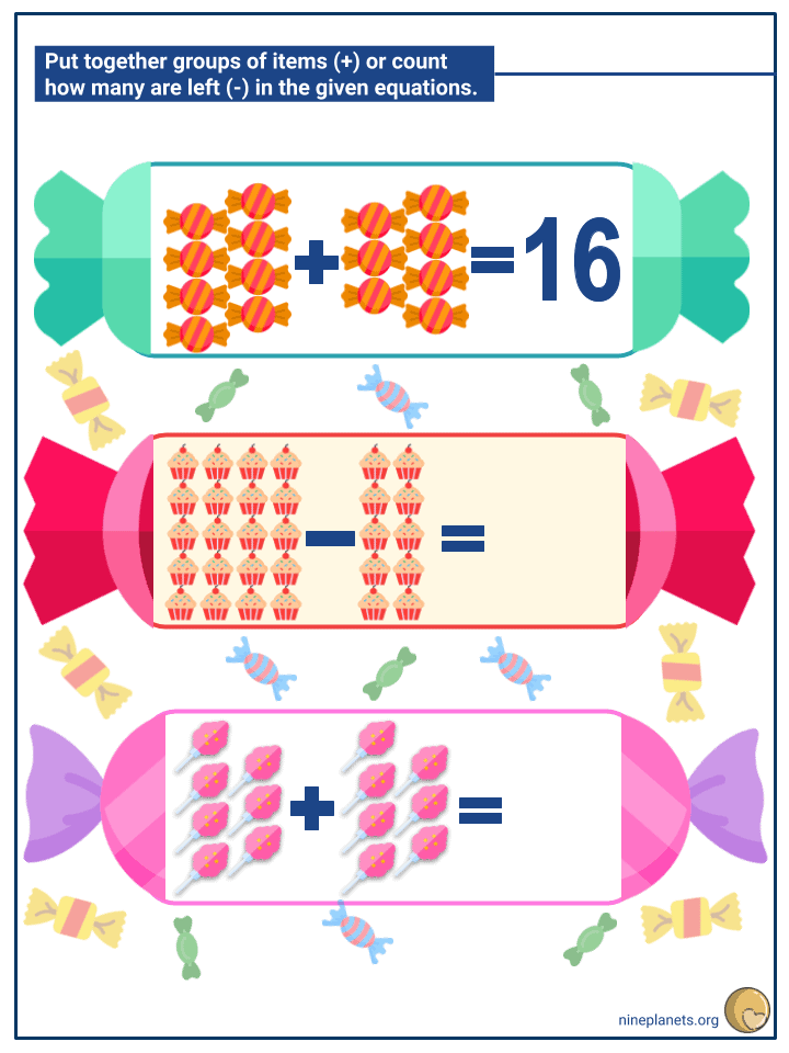 Addition and Subtraction of Numbers within 20 (2)