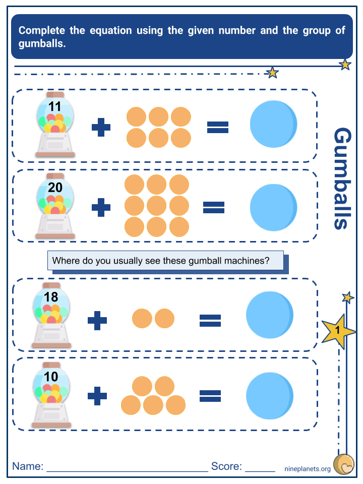 Addition and Subtraction of Numbers within 20 (4)