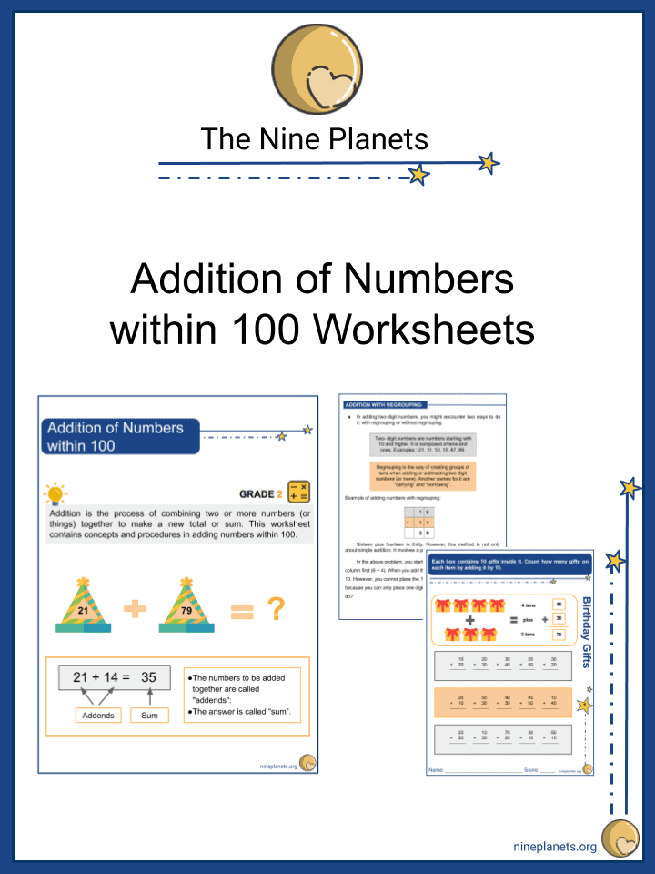 Addition of Numbers within 100
