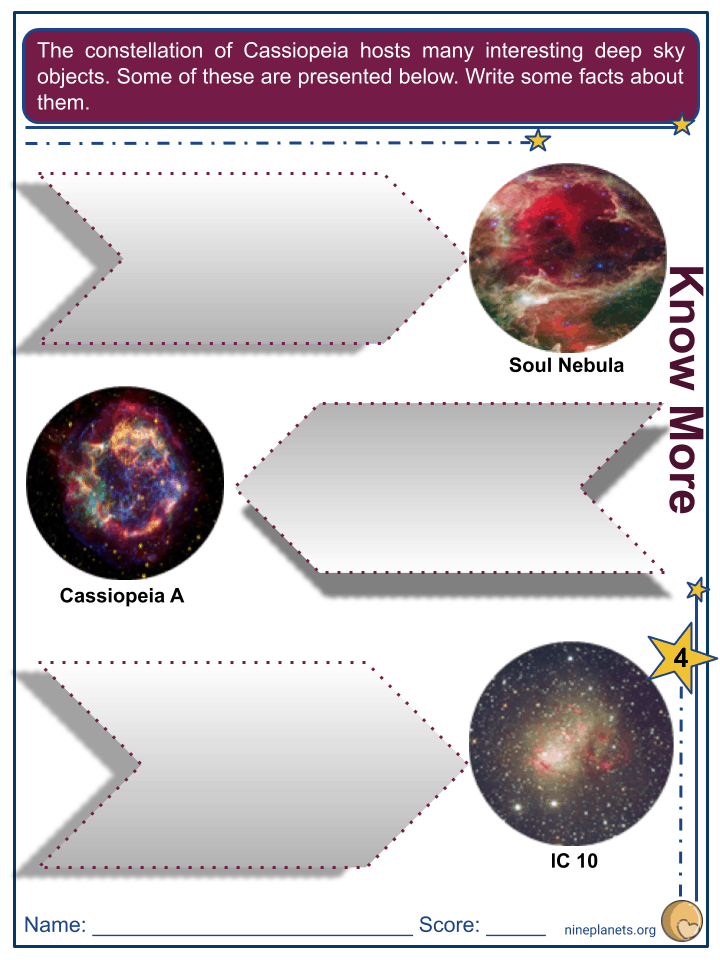 Cassiopeia Constellation Worksheets (5)
