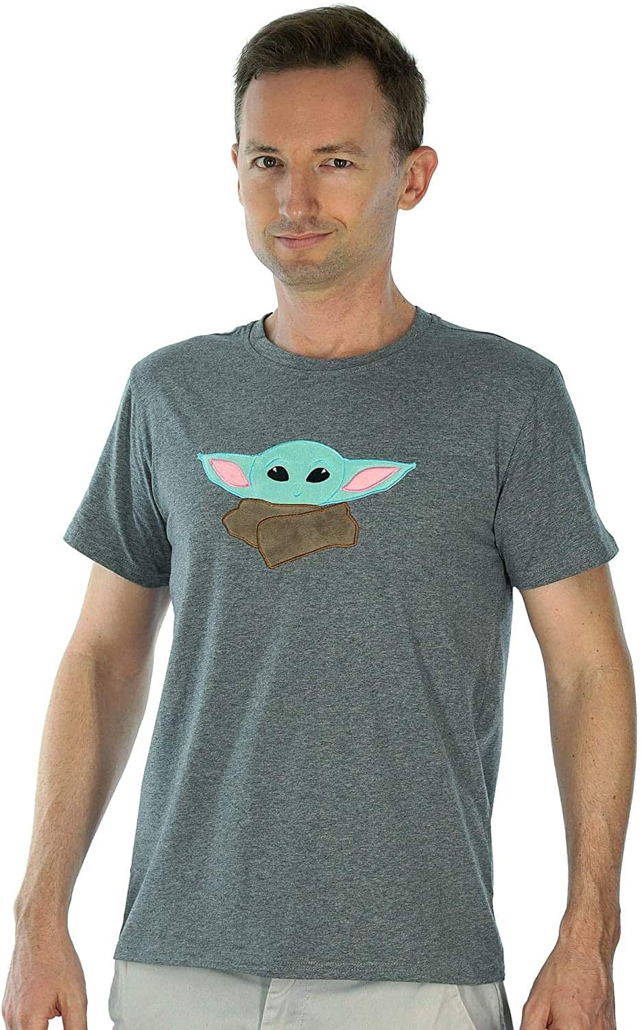 Comfy Camper Baby Green Space Alien Embroidered Character Shirt for Kids