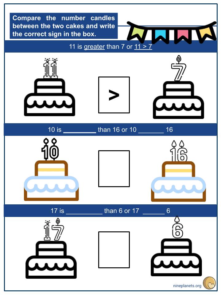 Comparing 2-digit Numbers Using Symbols (2)