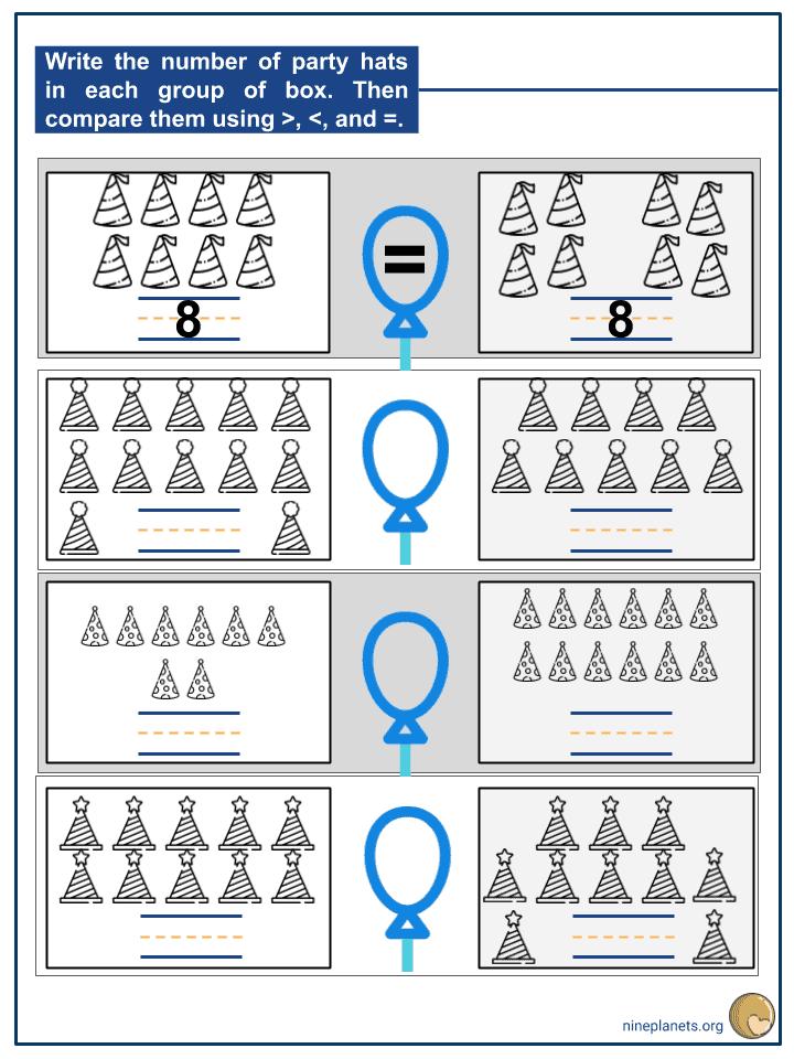 Comparing 2-digit Numbers Using Symbols (3)