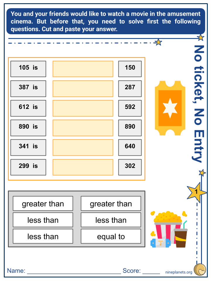 Comparing 3-Digit Numbers (4)