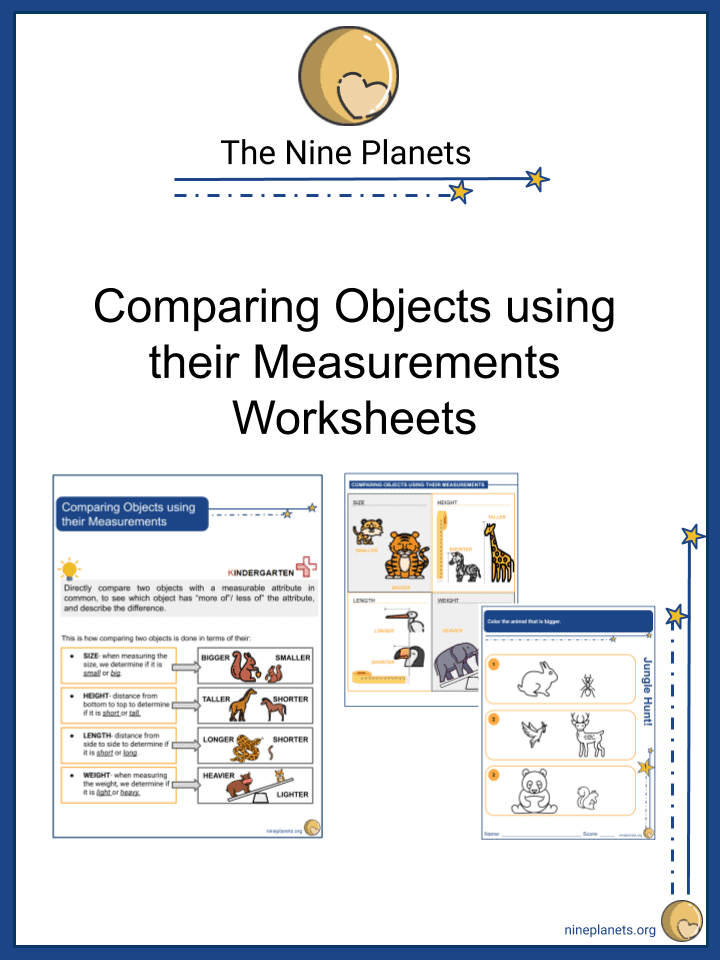 Comparing Objects using their Measurements Worksheets