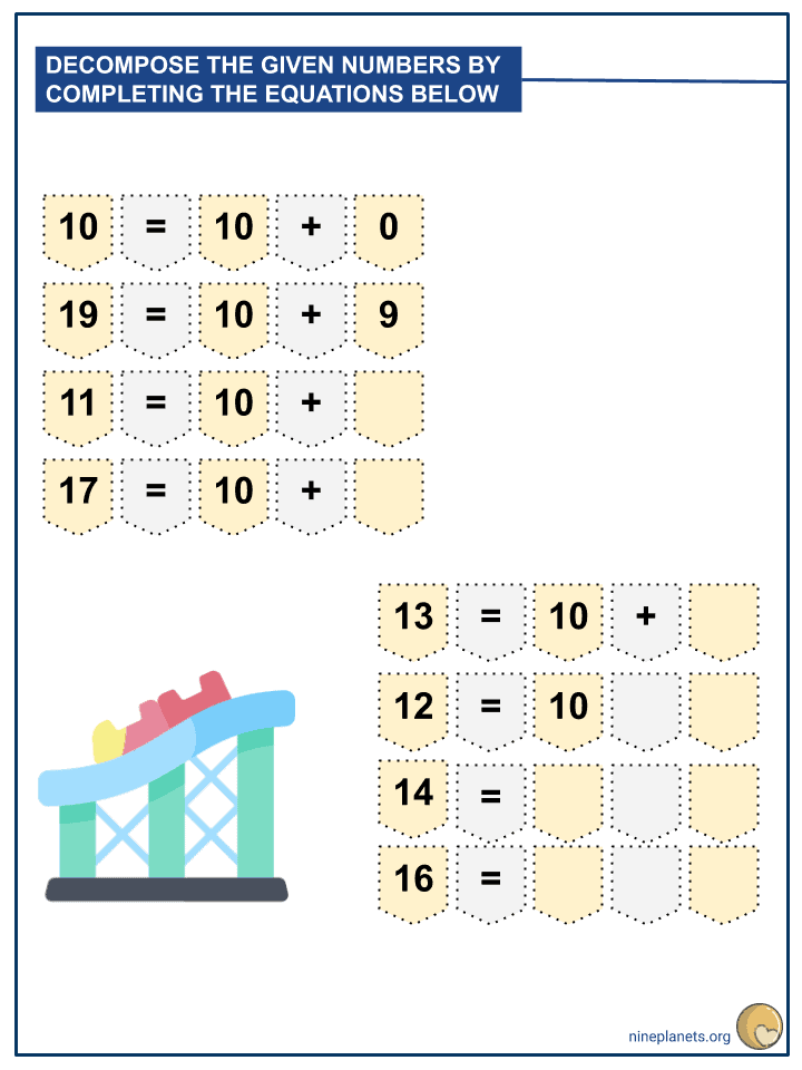 Decomposition of Numbers from 11-19 Using Tens and Ones (2)