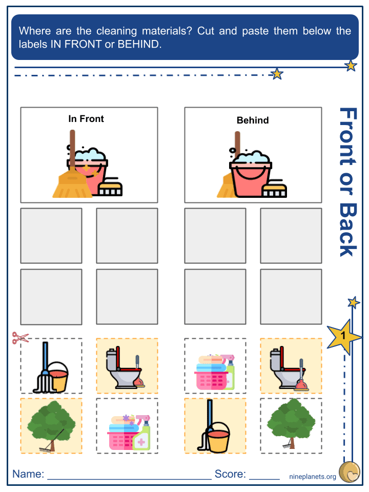 Describing Objects and its Relative Position Worksheets (4)