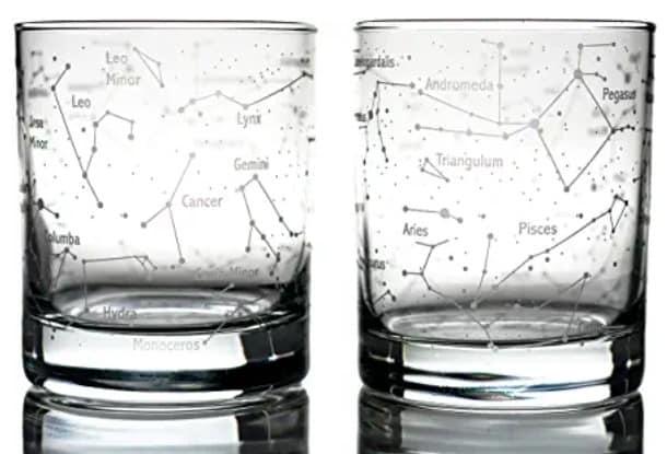 Greenline Goods Constellation Whiskey Glasses