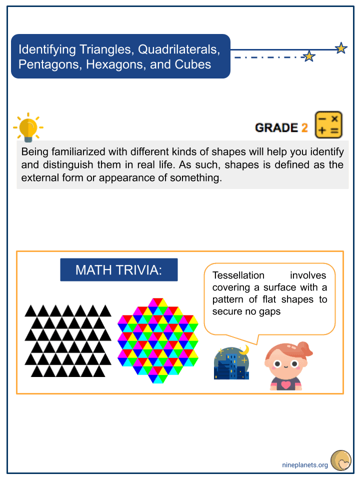 Identifying Triangles, Quadrilaterals, Pentagons, Hexagons, and Cubes (1)