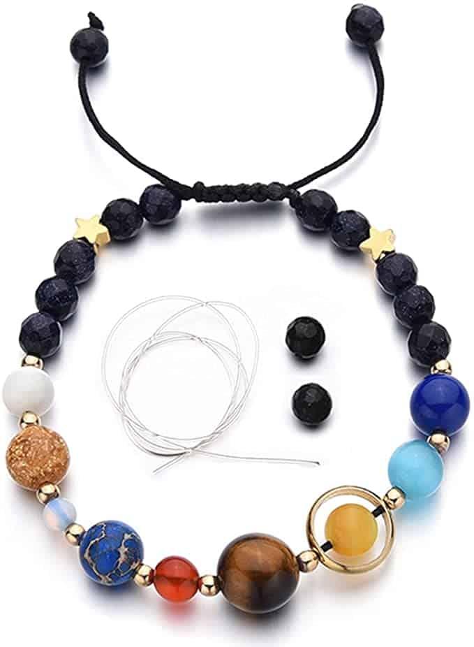 Menglina Stone Bead Charm Bracelet Universe Galaxy
