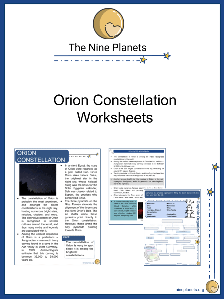 Orion Constellation Worksheets (3)