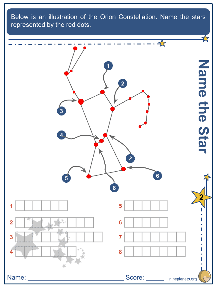 Orion Constellation Worksheets (5)