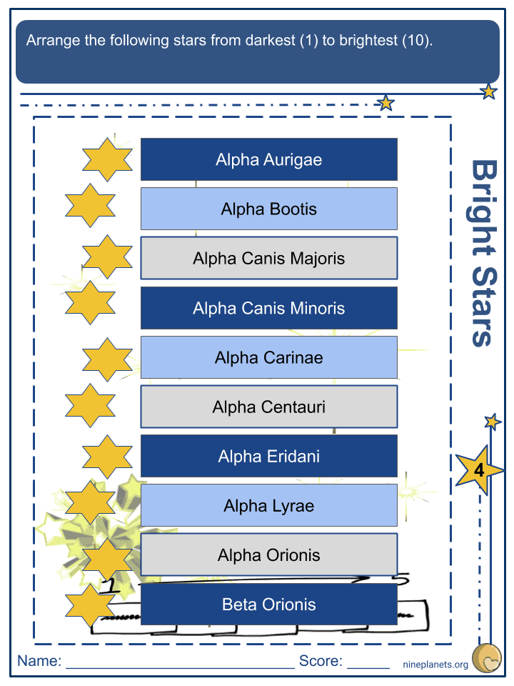 Orion Constellation Worksheets (7)