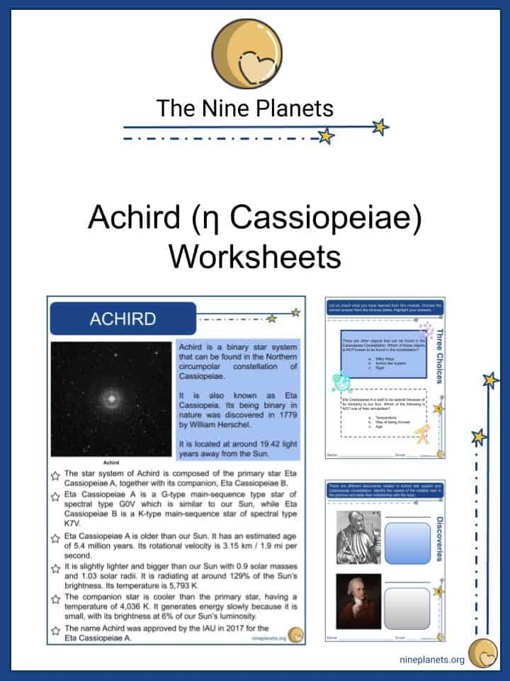 Sample of Achird (η Cassiopeiae) Worksheets