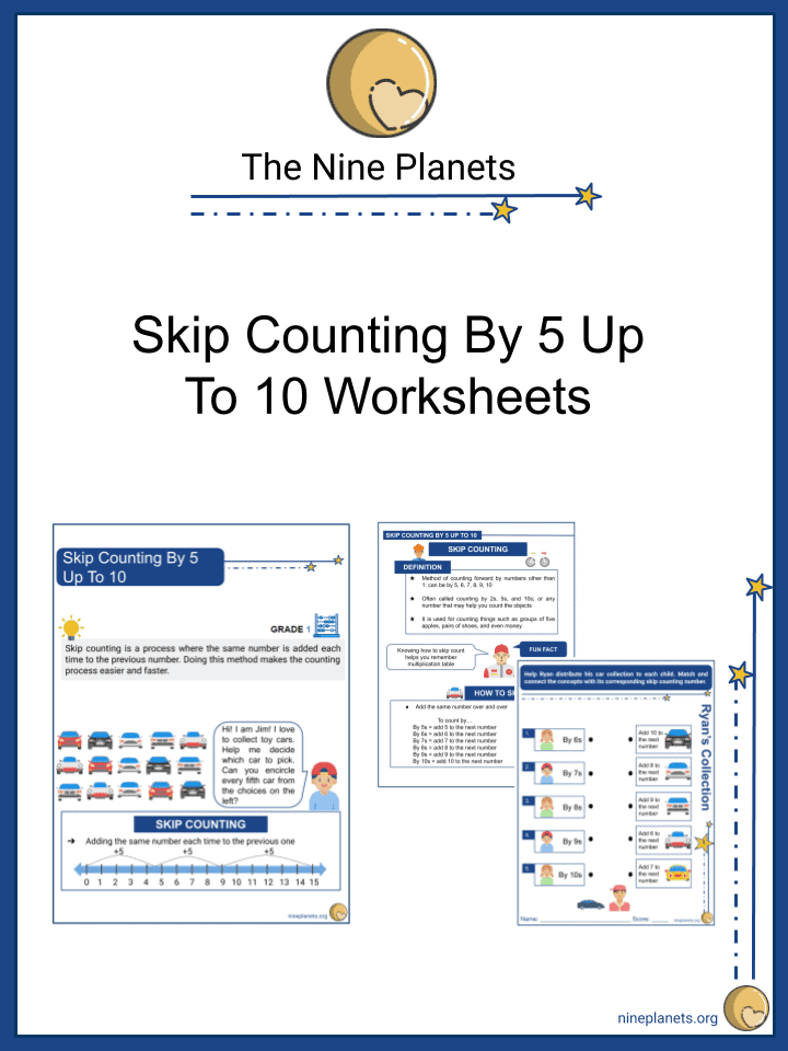 Skip Counting By 5 Up To 10