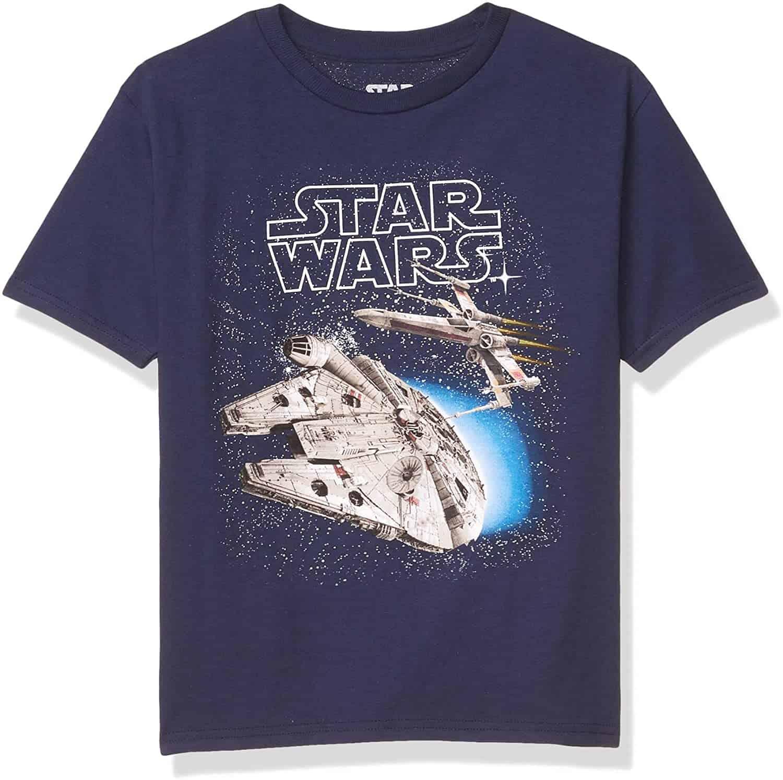 Star Wars Boys' Spaceships X-Wing Tie Fighter T-Shirt