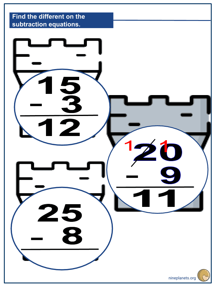 Subtracting 2-digit Numbers and 1-digit Numbers (3)