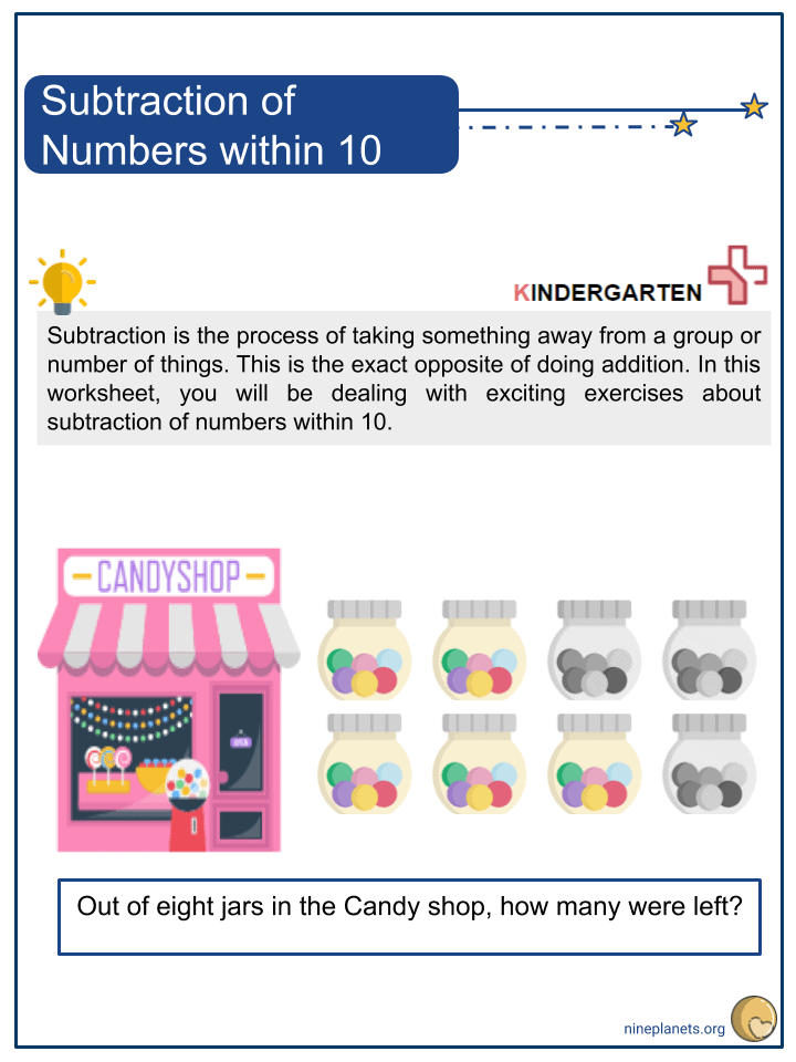 Subtraction of Numbers within 10 (1)