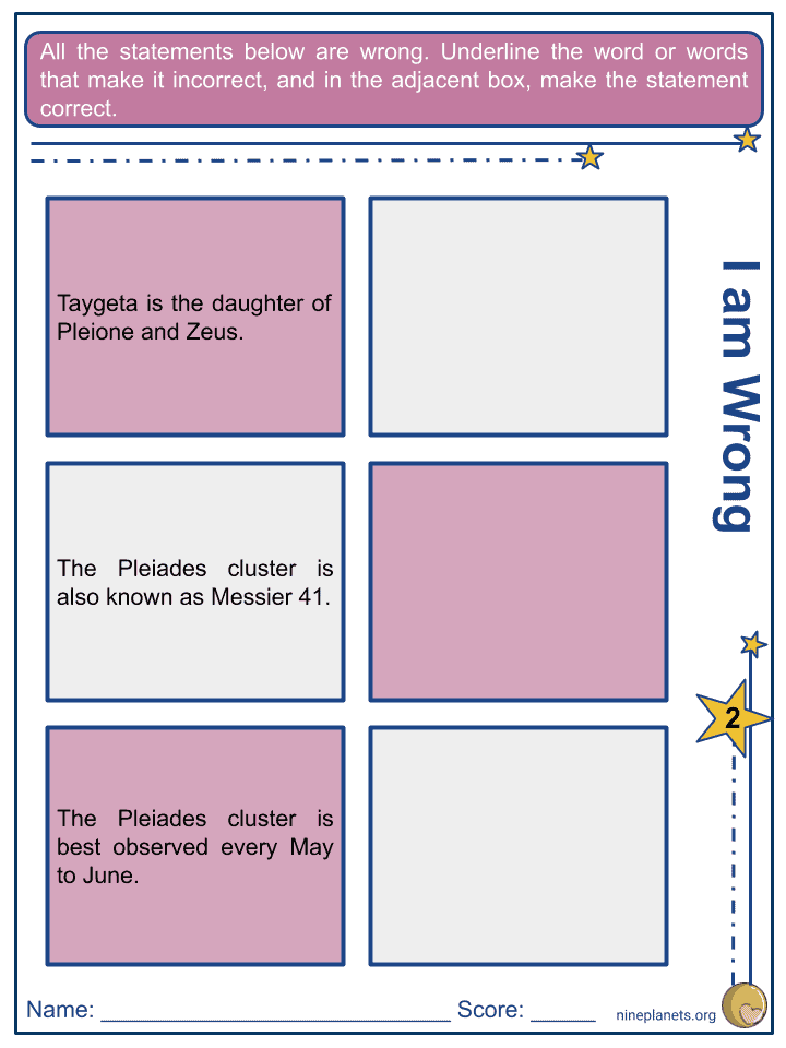 Taygeta Worksheets (2)