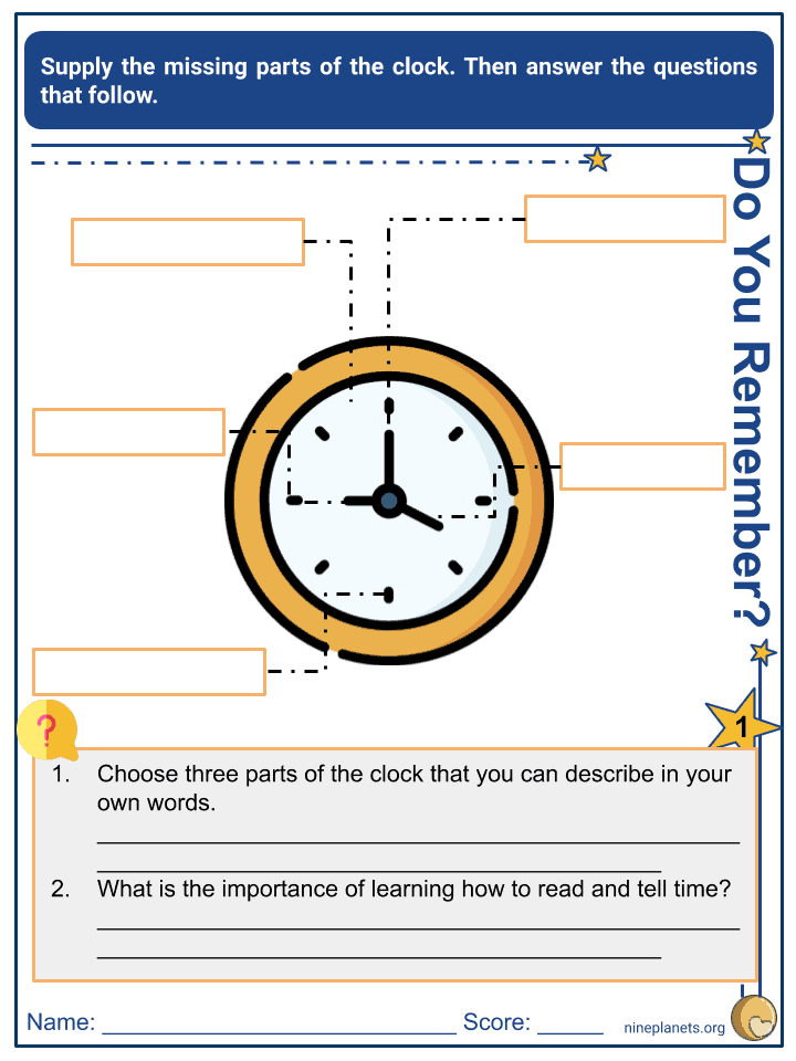 Understanding Time Worksheets (4)