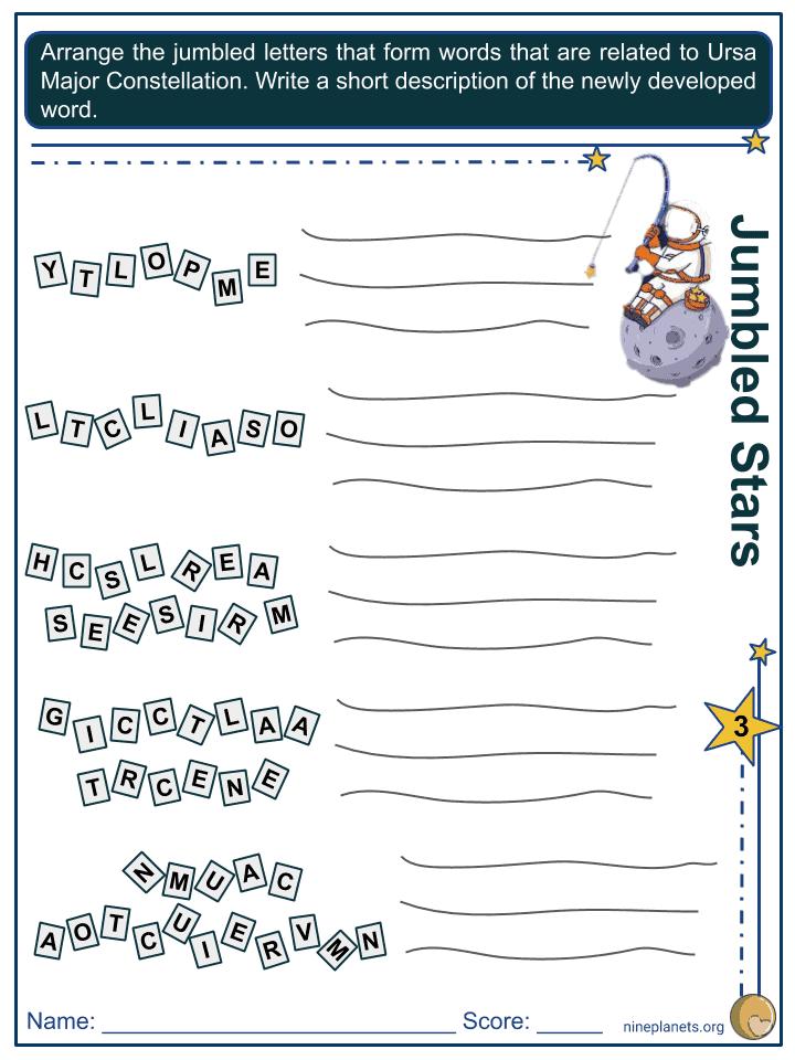 Ursa Major Constellation Worksheets (3)