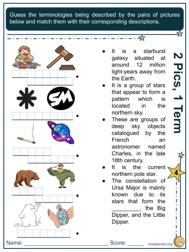 Ursa Major Constellation Worksheets (4)