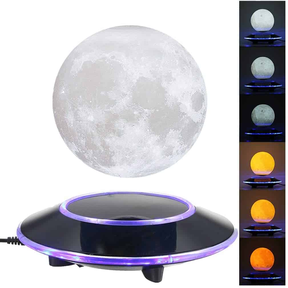 VGAzer Magnetic Levitating Moon Lamp Night
