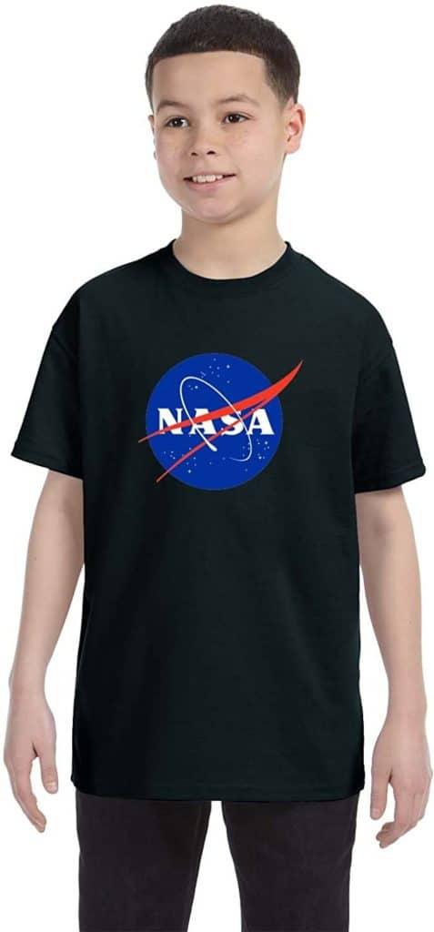 econoShirts NASA Meatball Logo Youth Shirt Space Shuttle Rocket Science Geek Boys Kids GirlsTee