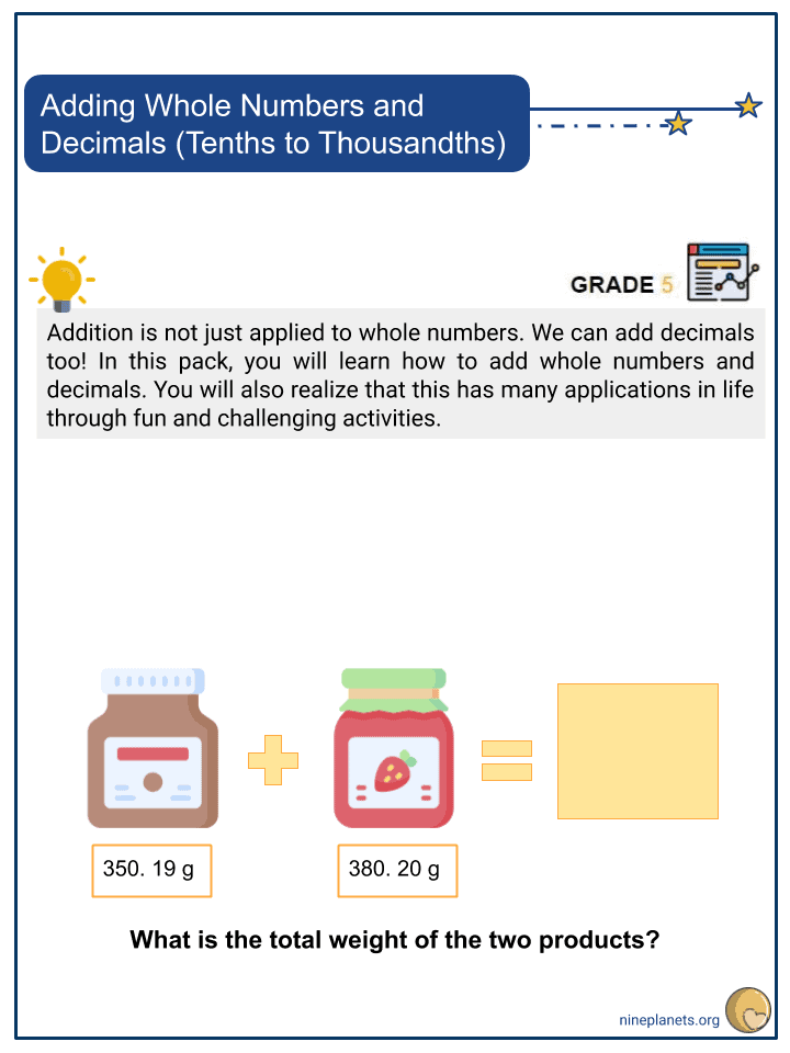 Adding Whole Numbers and Decimals (Tenths to Thousandths) (1)