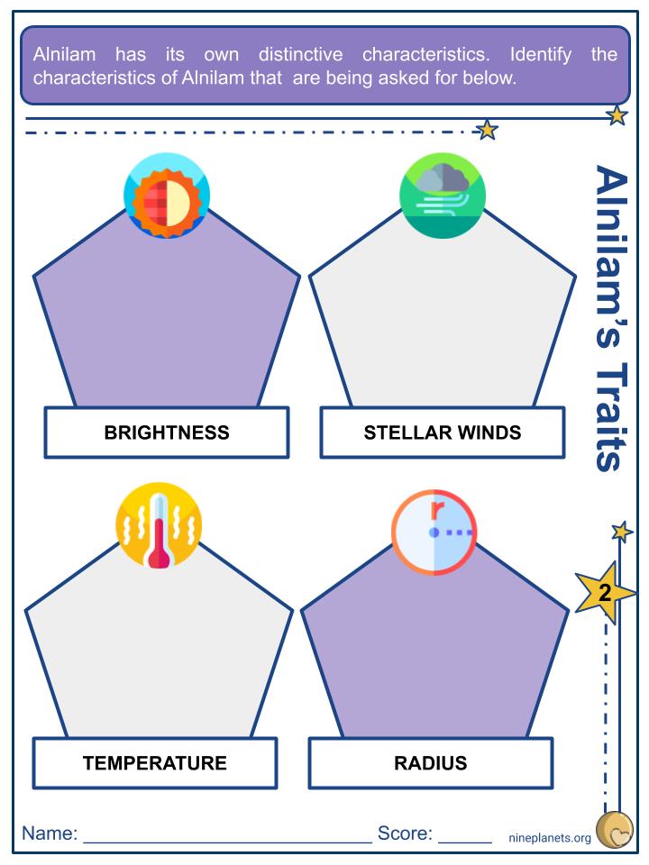 Alnilam (ε Orionis) Worksheets (3)