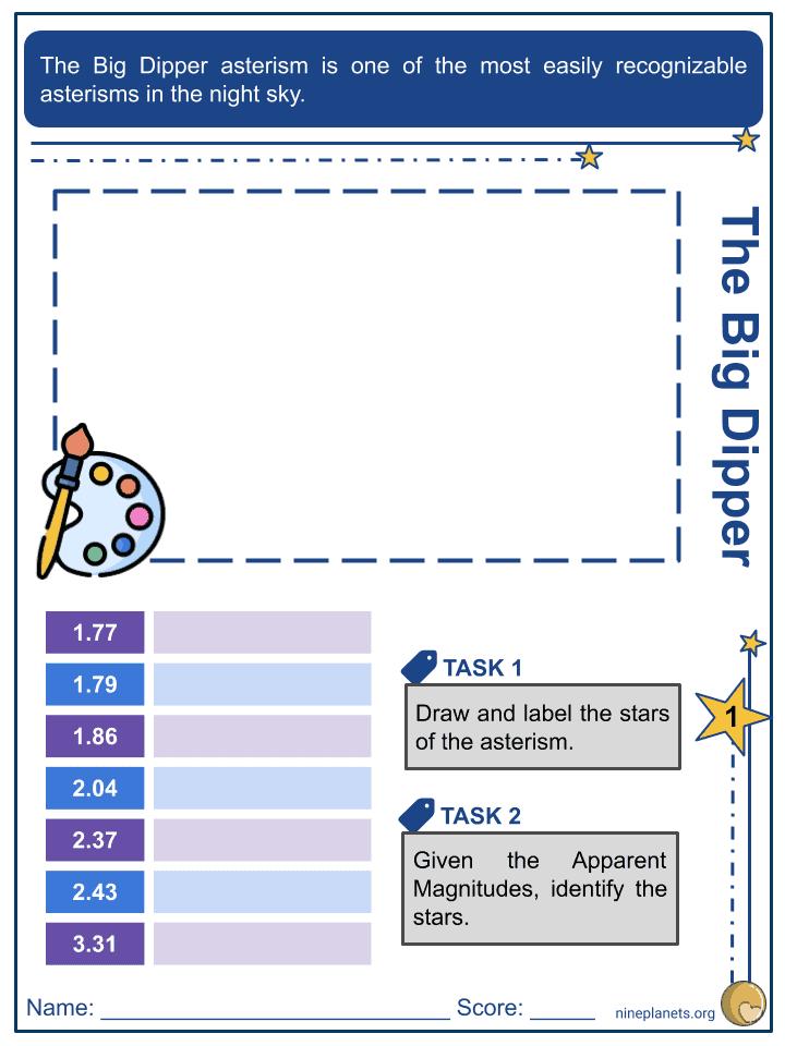 Big Dipper Worksheets (1)