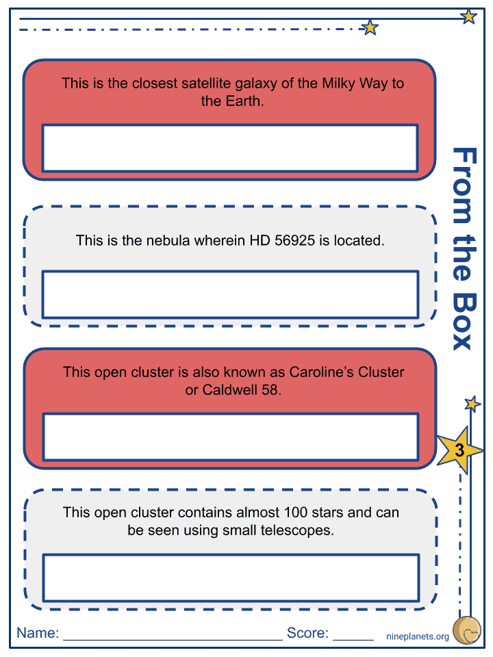 Canis Major Constellation Worksheets (7)