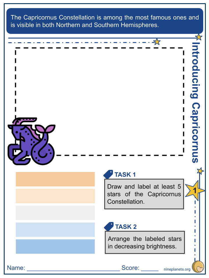 Capricornus Constellation Worksheets (1)