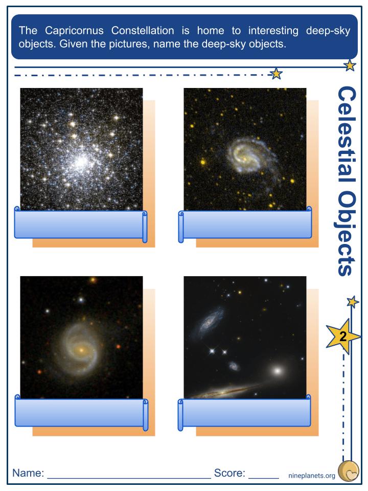 Capricornus Constellation Worksheets (2)