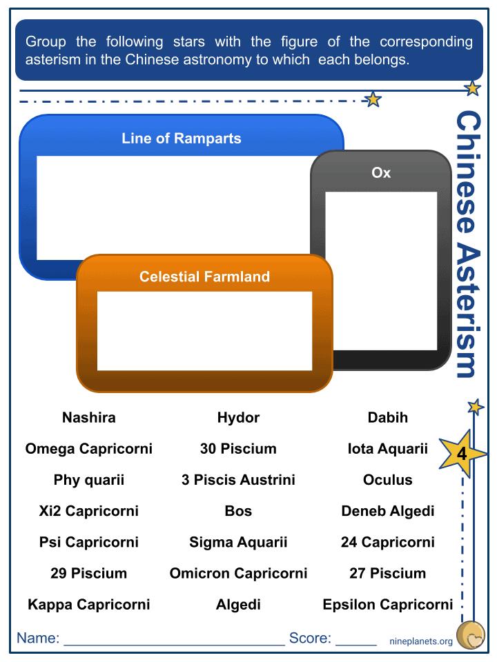 Capricornus Constellation Worksheets (4)