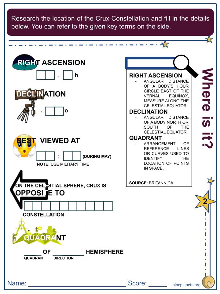 Crux Constellation Worksheets (1)