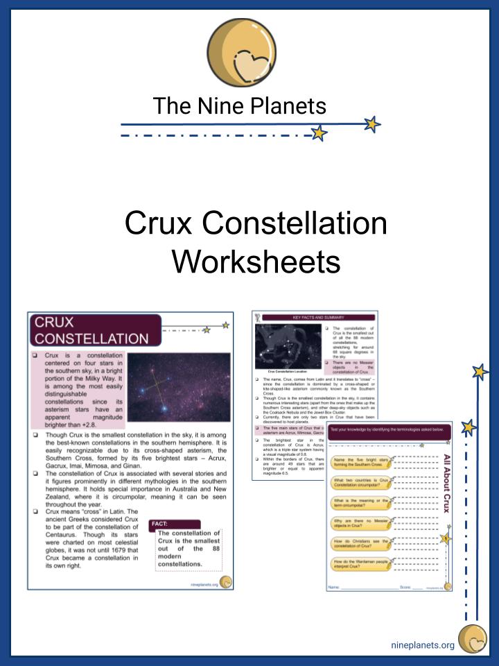 Crux Constellation Worksheets (3)