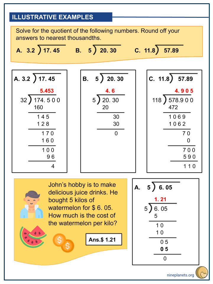 Dividing Whole Numbers and Decimals (Tenths to Thousandths) (3)