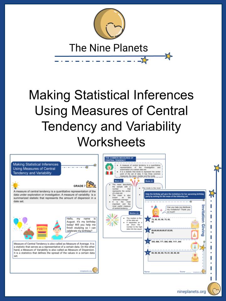 Making Statistical Inferences Math Worksheets For Kids