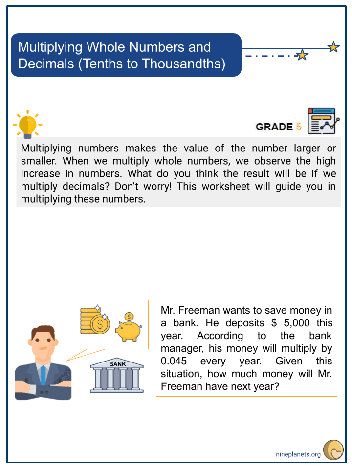 Multiplying Whole Numbers and Decimals (Tenths to Thousandths) (1)