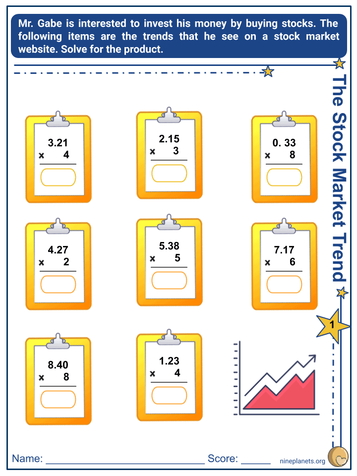 Multiplying Whole Numbers and Decimals (Tenths to Thousandths) (4)