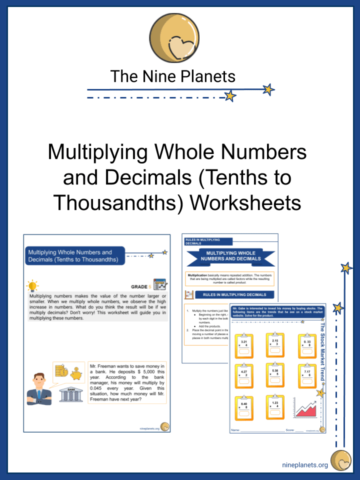 Multiplying Whole Numbers and Decimals (Tenths to Thousandths)