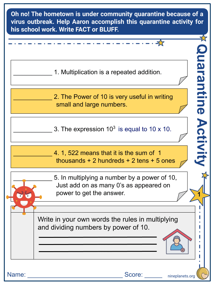 Multiplying and Dividing Numbers by Power of 10 (4)