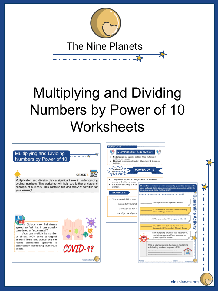 Multiplying and Dividing Numbers by Power of 10