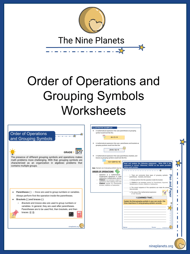 Order of Operations and Grouping Symbols