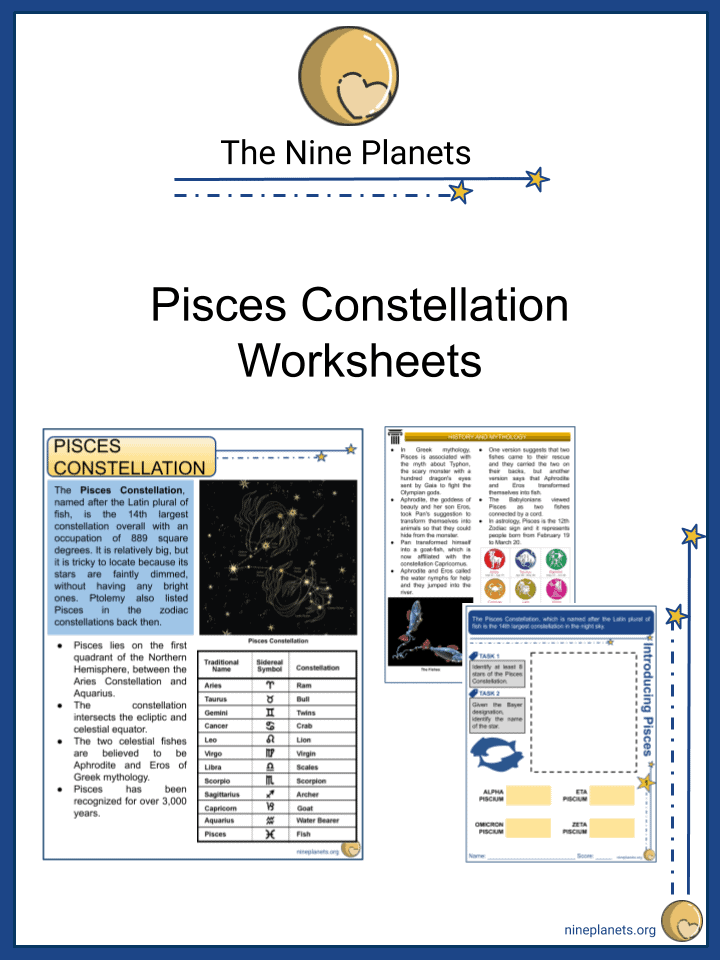 Pisces Constellation Worksheets