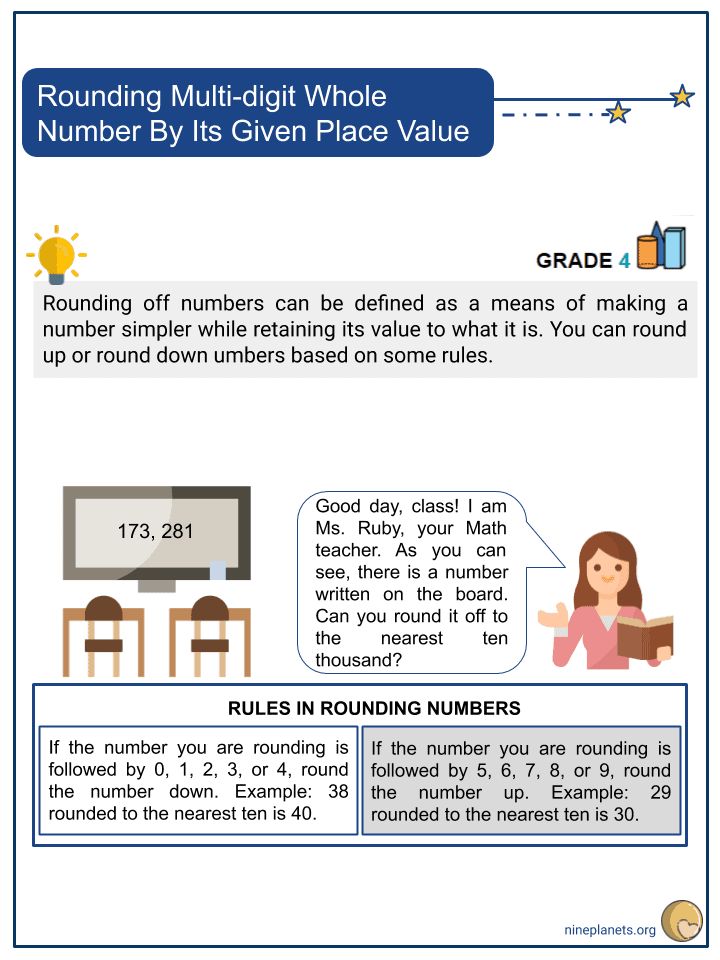 Rounding Multi-digit Whole Number By Its Given Place Value (1)