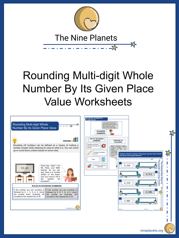 Rounding Multi-digit Whole Number By Its Given Place Value
