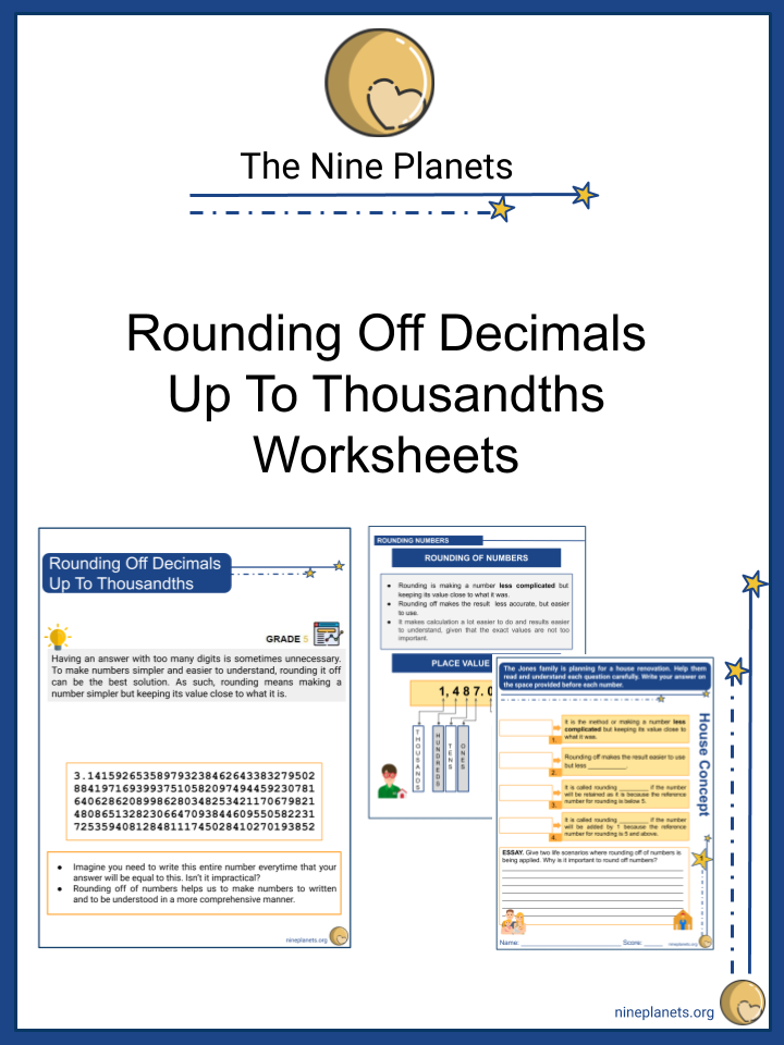 Rounding Off Decimals Up To Thousandths